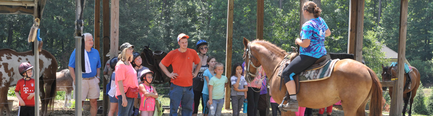 Giving Riding Lessons at Dead Broke Farm