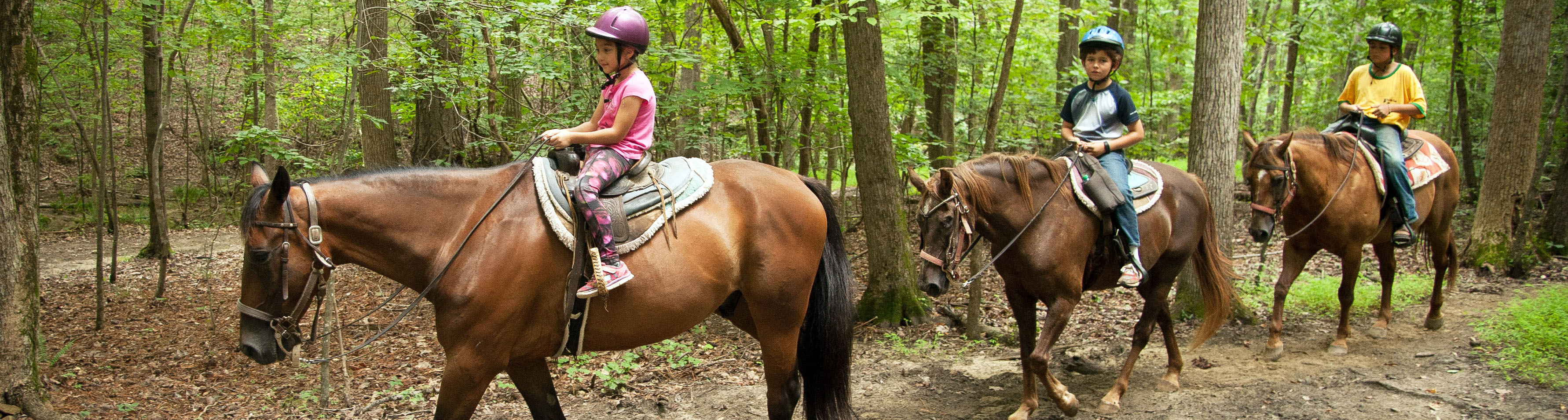 Children Riding at Dead Broke Farm in Raleigh